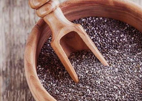 semillas de chía crudas fibra